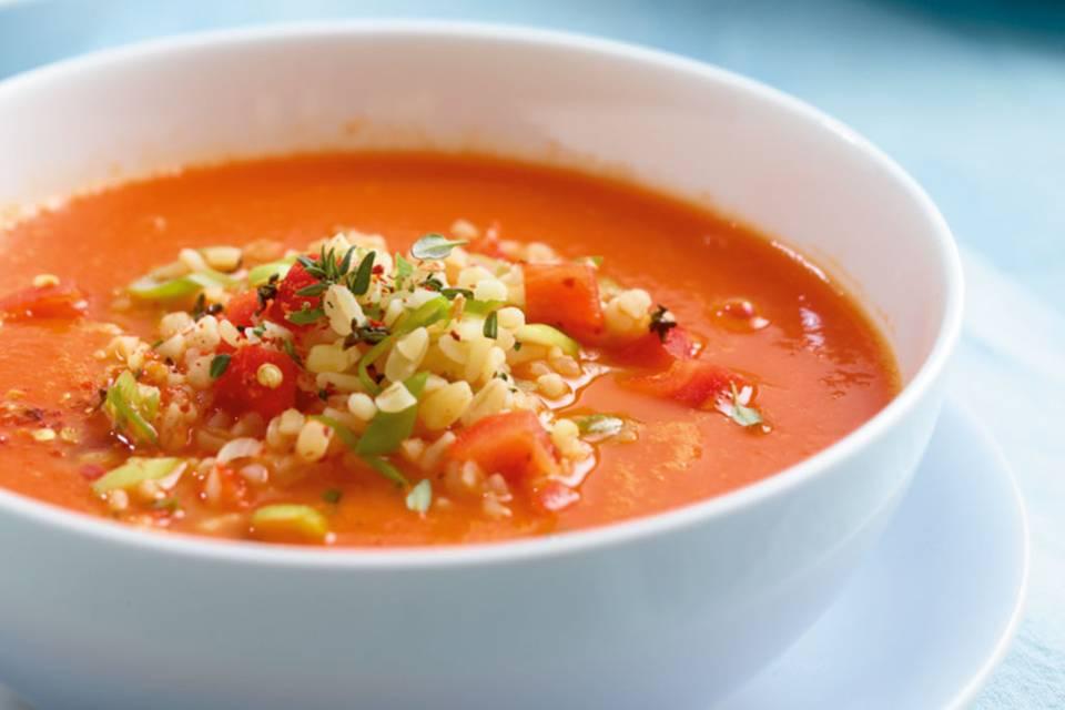 Paprika-Tomaten-Suppe Rezept