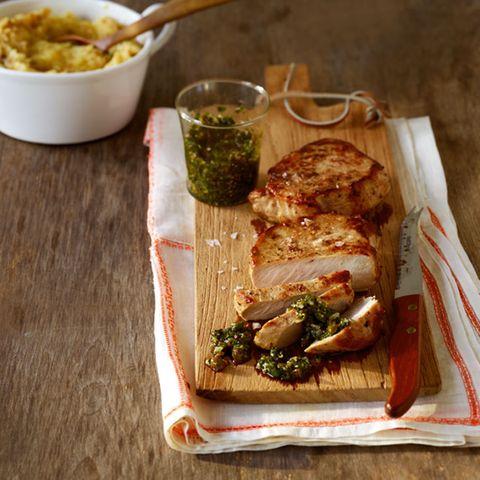 Schweinerückensteak mit Salsa