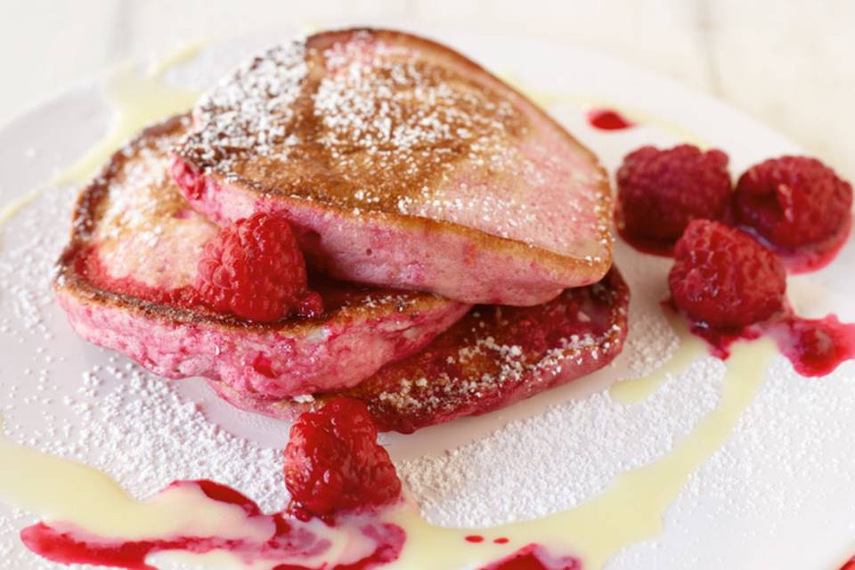 Rosa Pancakes Rezept