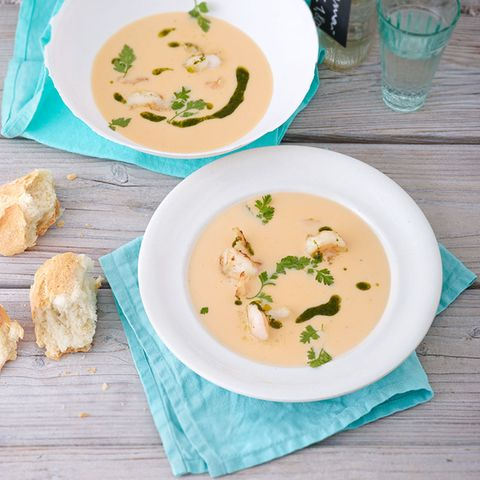 Blumenkohl-Garnelen-Suppe