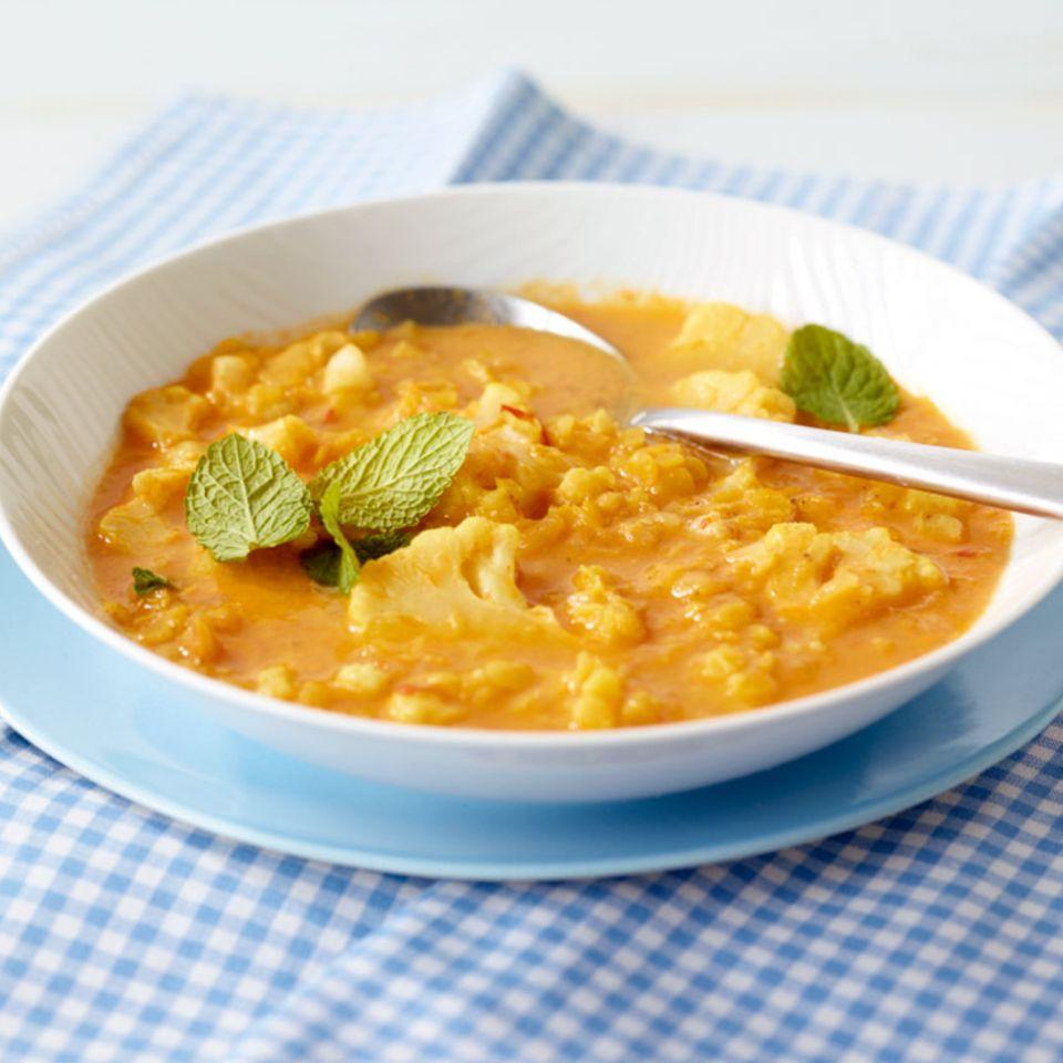 Linsen-Blumenkohl-Suppe
