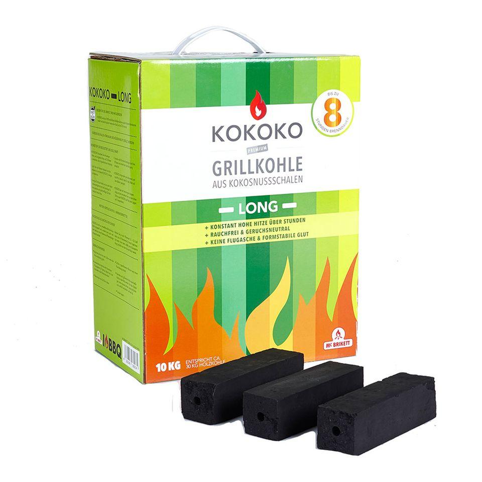 Grillkohle aus Kokosnusschale: Kokoko