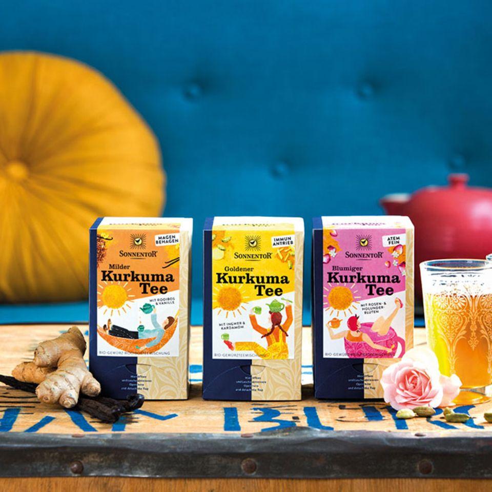 Wunderbar würzig: Kurkuma Tee von Sonnentor