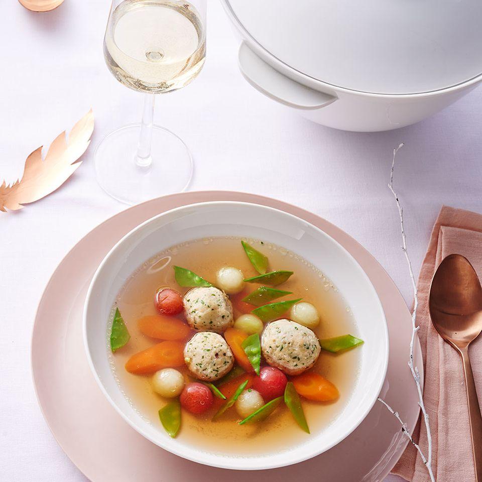 Suppe mit Geflügel