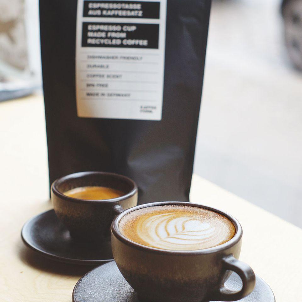 Kaffeeform bietet zwei Größen an: Espresso- und Cappuccinotassen