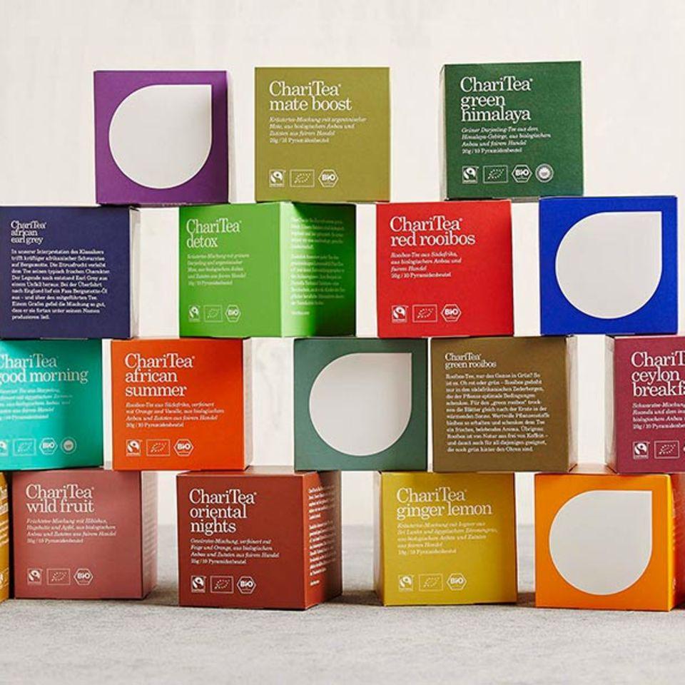 Farbenfroh und superlecker: Die neuen Bio-Tees von ChariTea