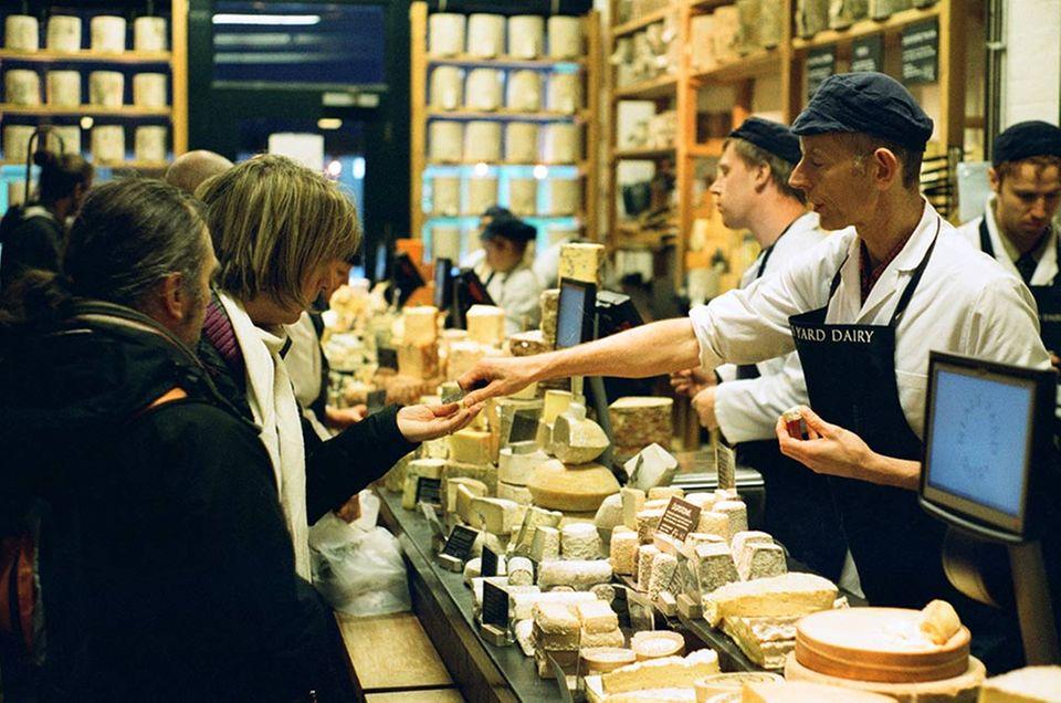 Bei Neal's Yard Dairy gibt es die besten Produkte von über 70 Käseherstellern auf den britischen Inseln.