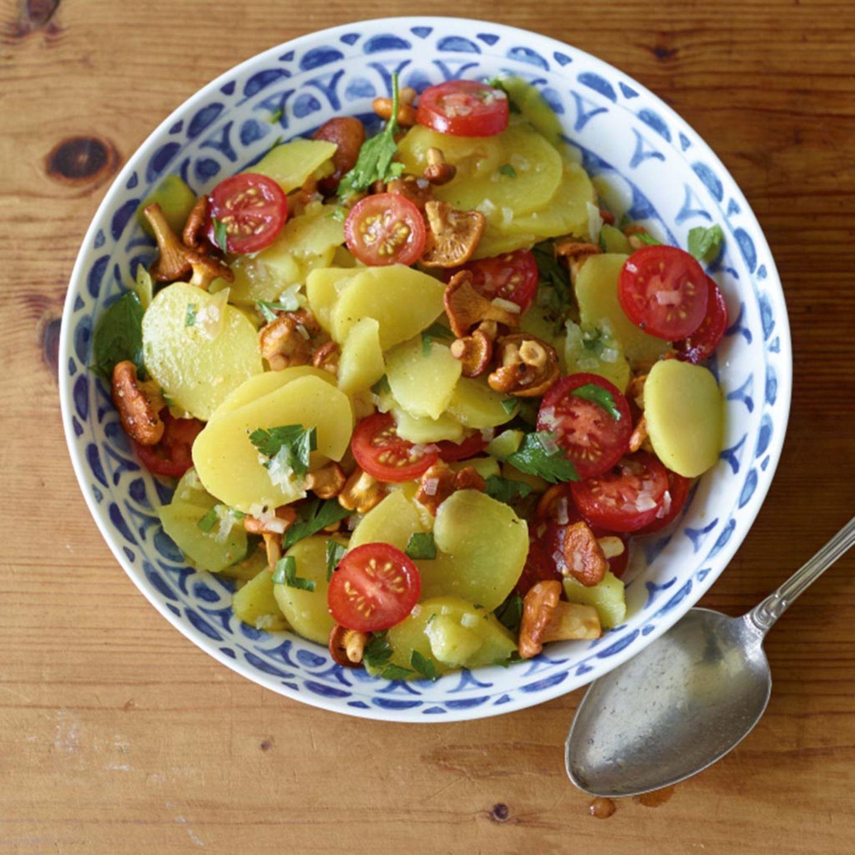 Pfifferlinge: Salate und Suppen