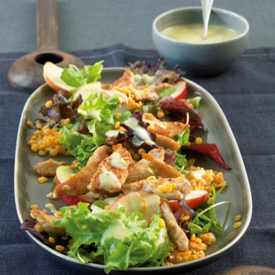 Linsen in Salaten und Snacks