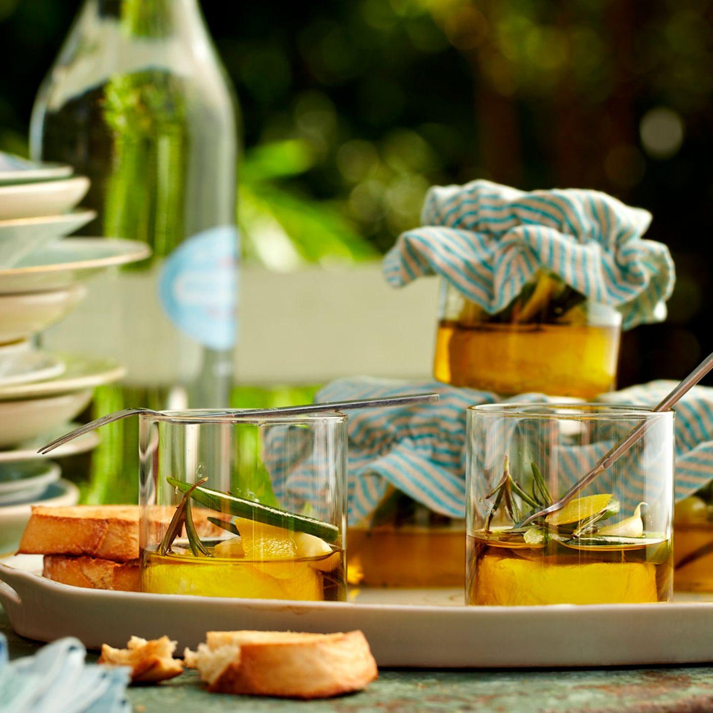 Vorspeisen mit Olivenöl