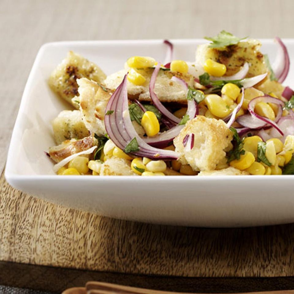 Eintöpfen, Suppen und Salaten mit Mais