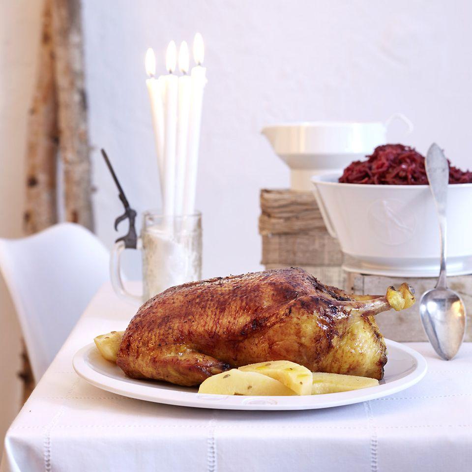 Rezepte: Weihnachtsmenü mit Ente