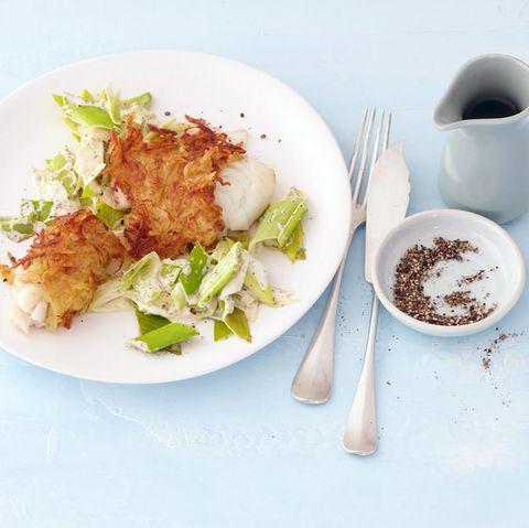 Fischgerichte mit Lauch