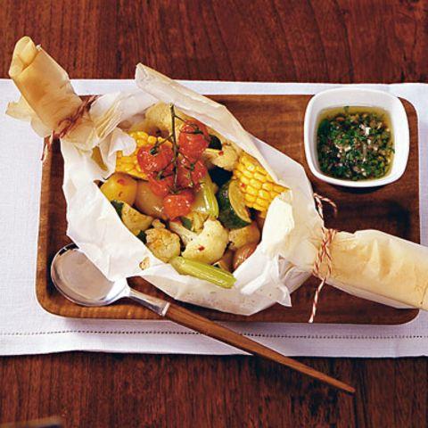 Vinaigrettes für vegetarische Gerichte