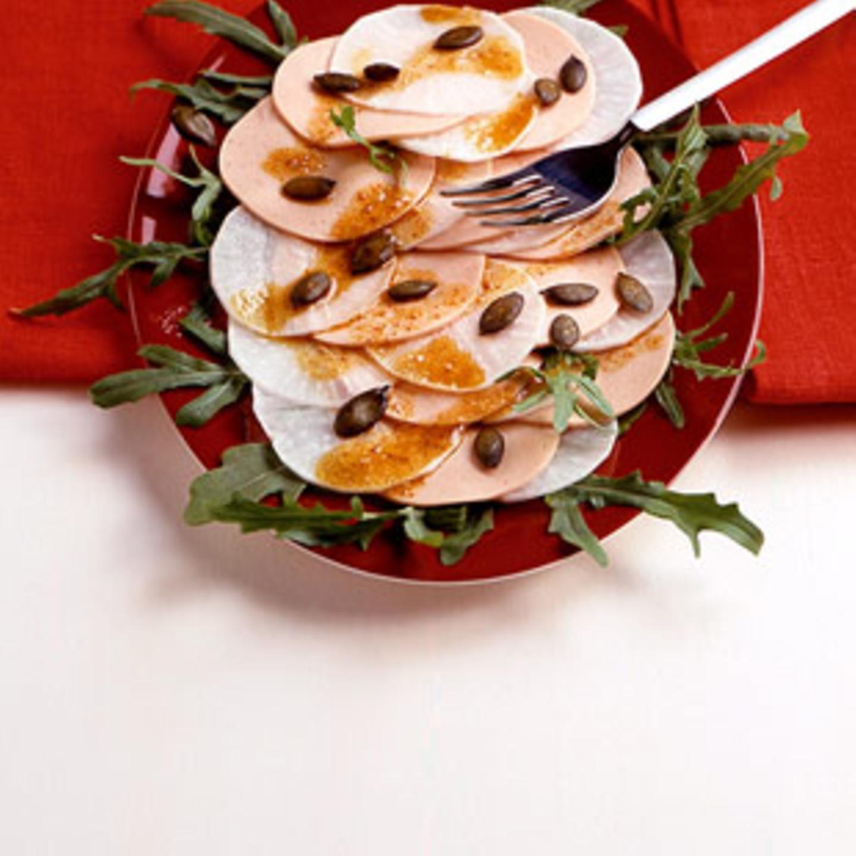 Kürbiskerne in Salaten