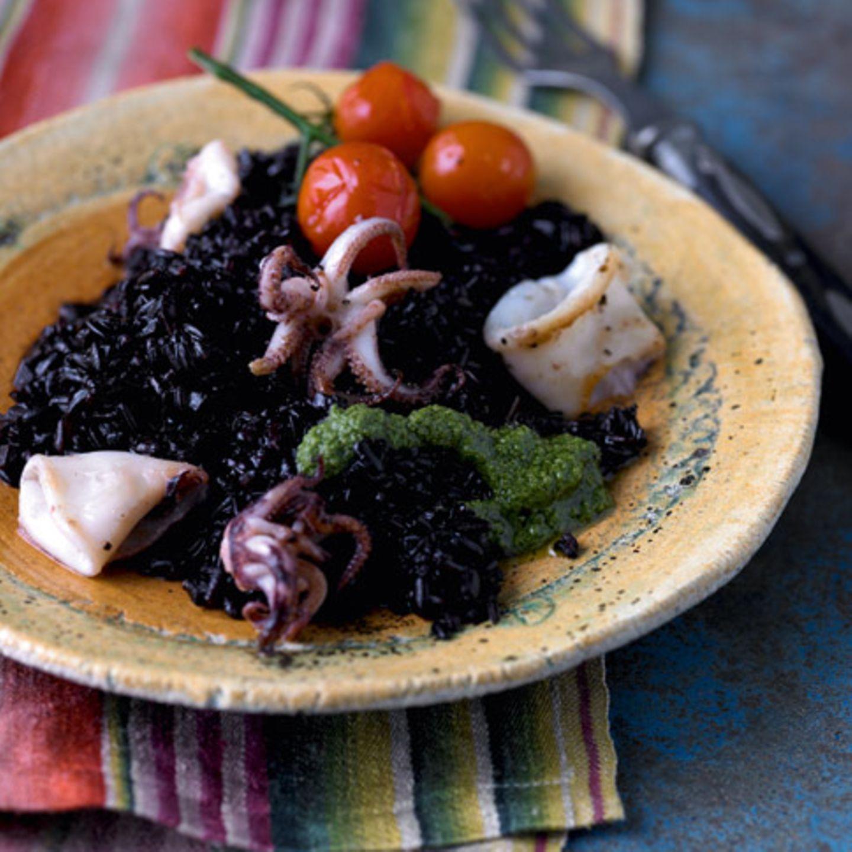 Rezepte: Reis mit Fisch und Meeresfrüchten