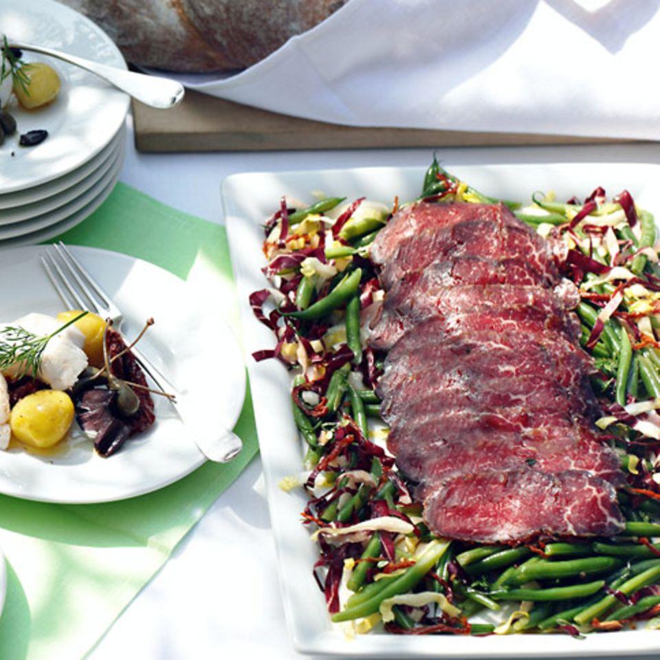 Familienfeste: Menü mit Rind
