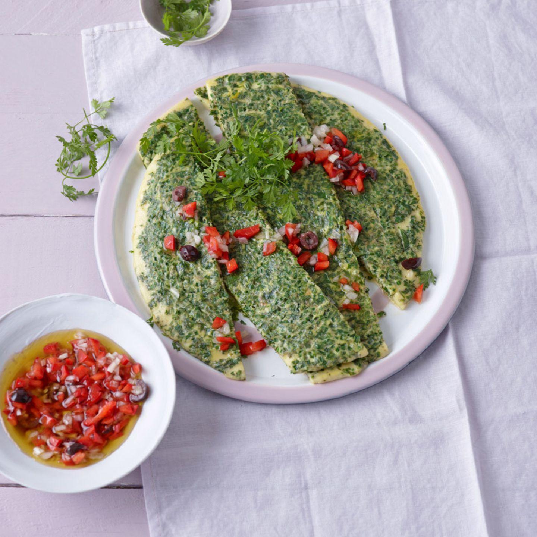 Petersilie: vegetarische Gerichte