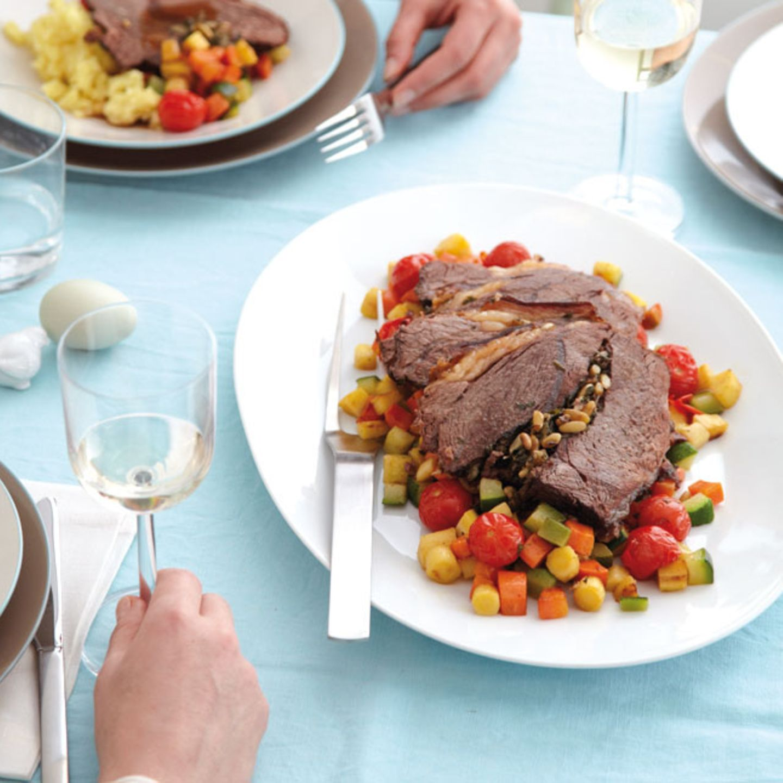 Rezepte: Ostermenü mit Rinderbraten