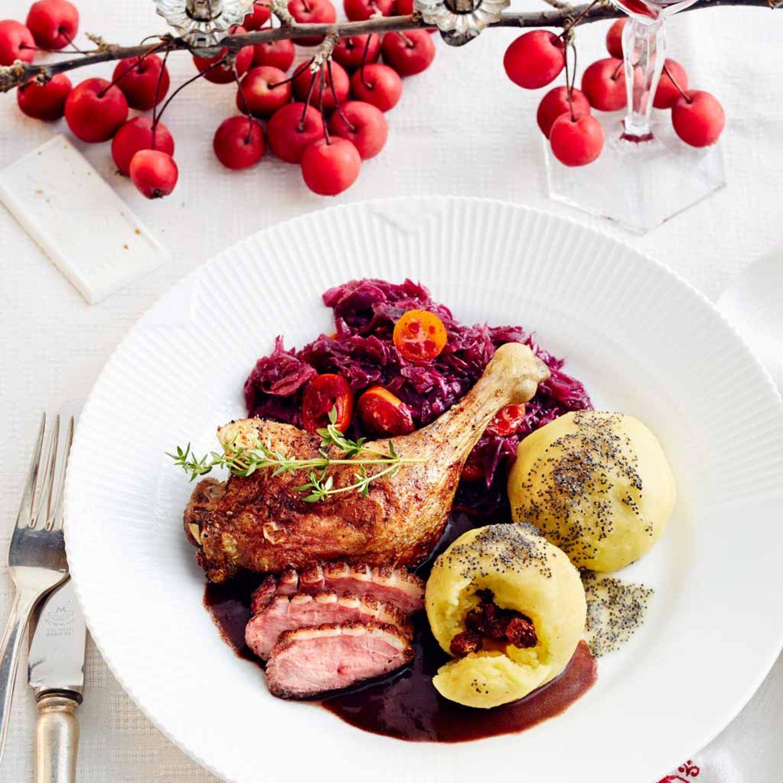 Menü: Ente mit Portwein-Schokoladen-Sauce