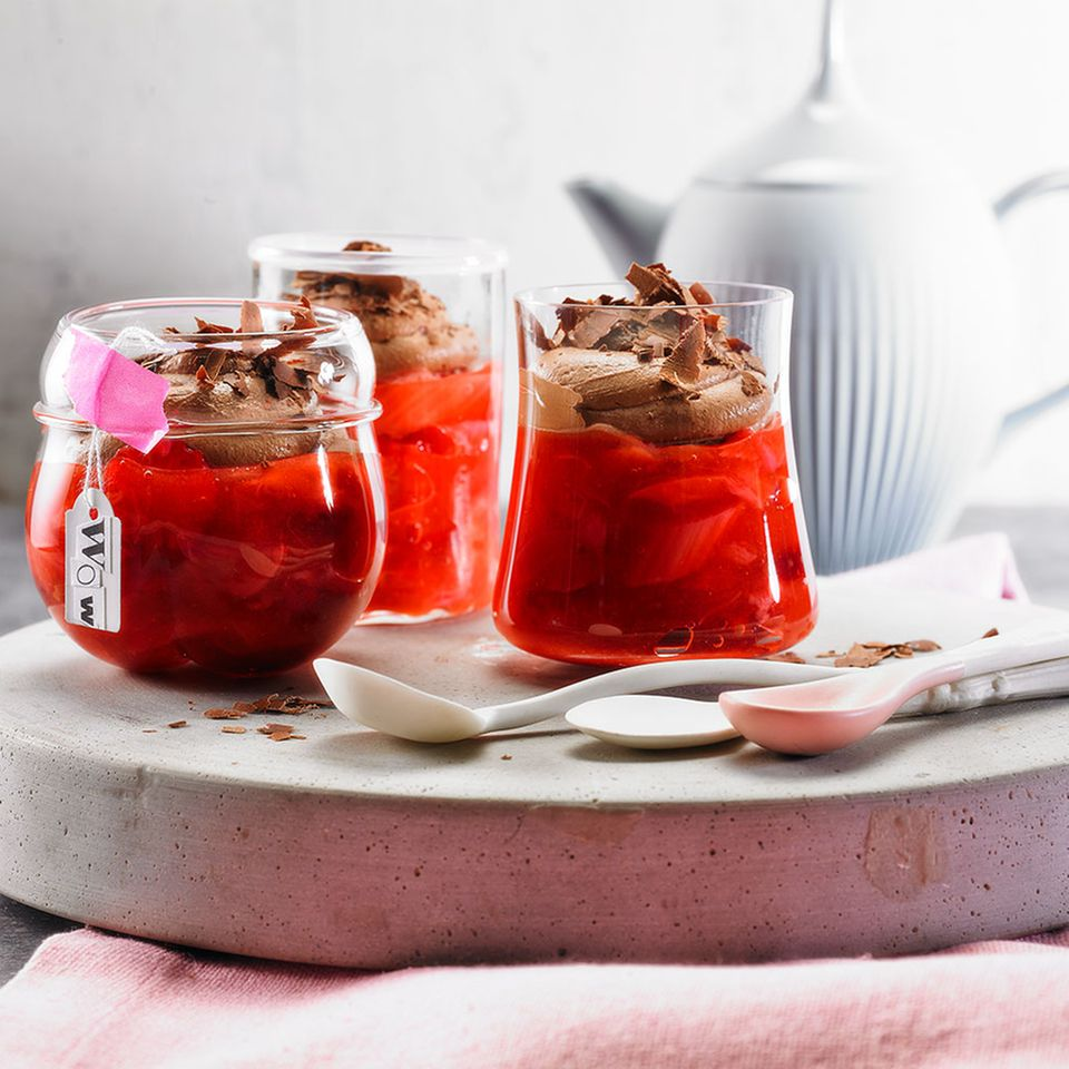 Rezepte mit Erdbeeren und Rhabarber