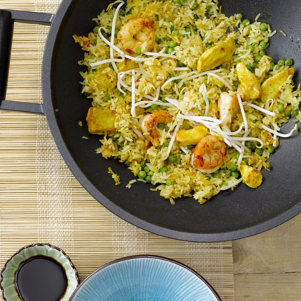 Rezepte: Reis mit Garnelen