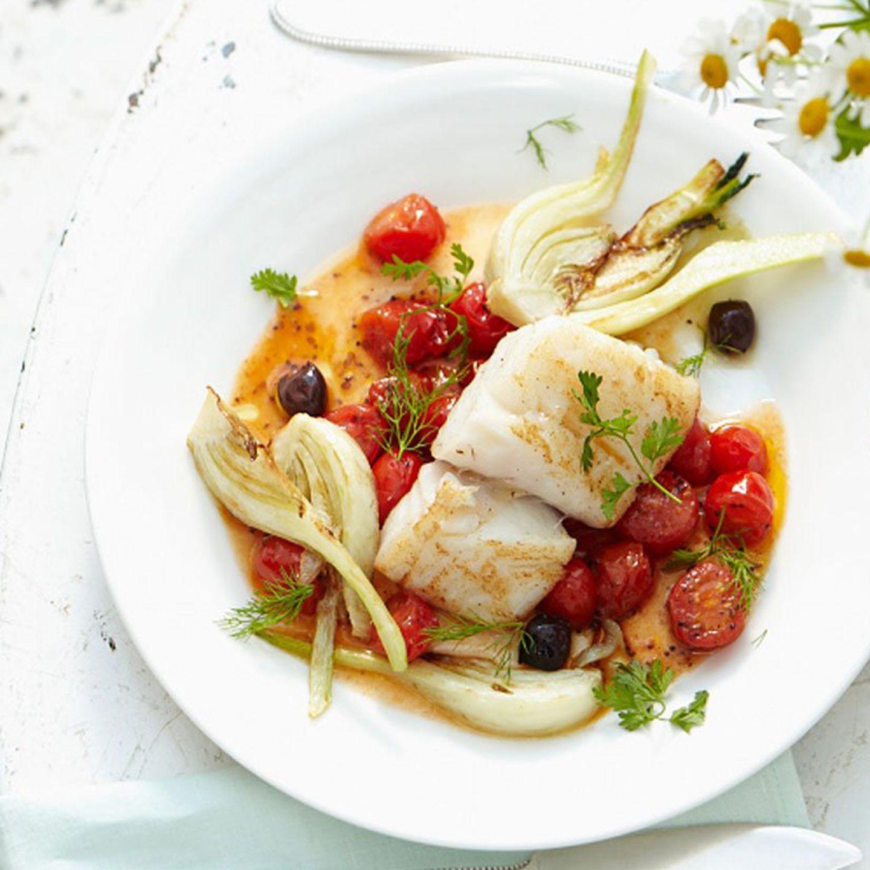 Sommer-Menü mit Fisch