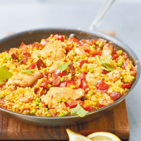 Pfannengerichte mit Reis