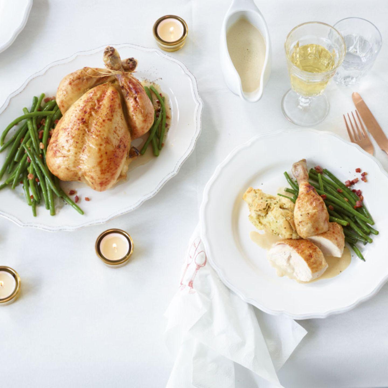 Festliche Braten vom Huhn