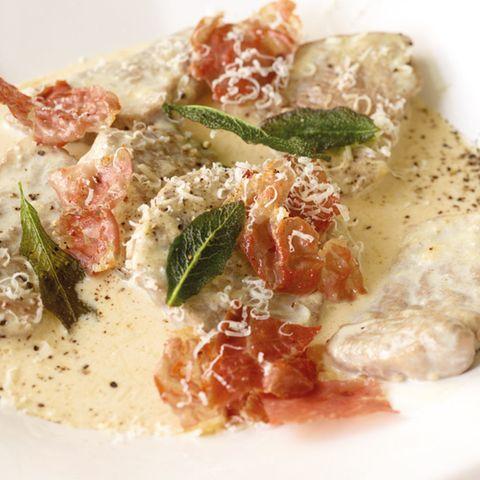 Schnitzel mit Parmesan-Sauce