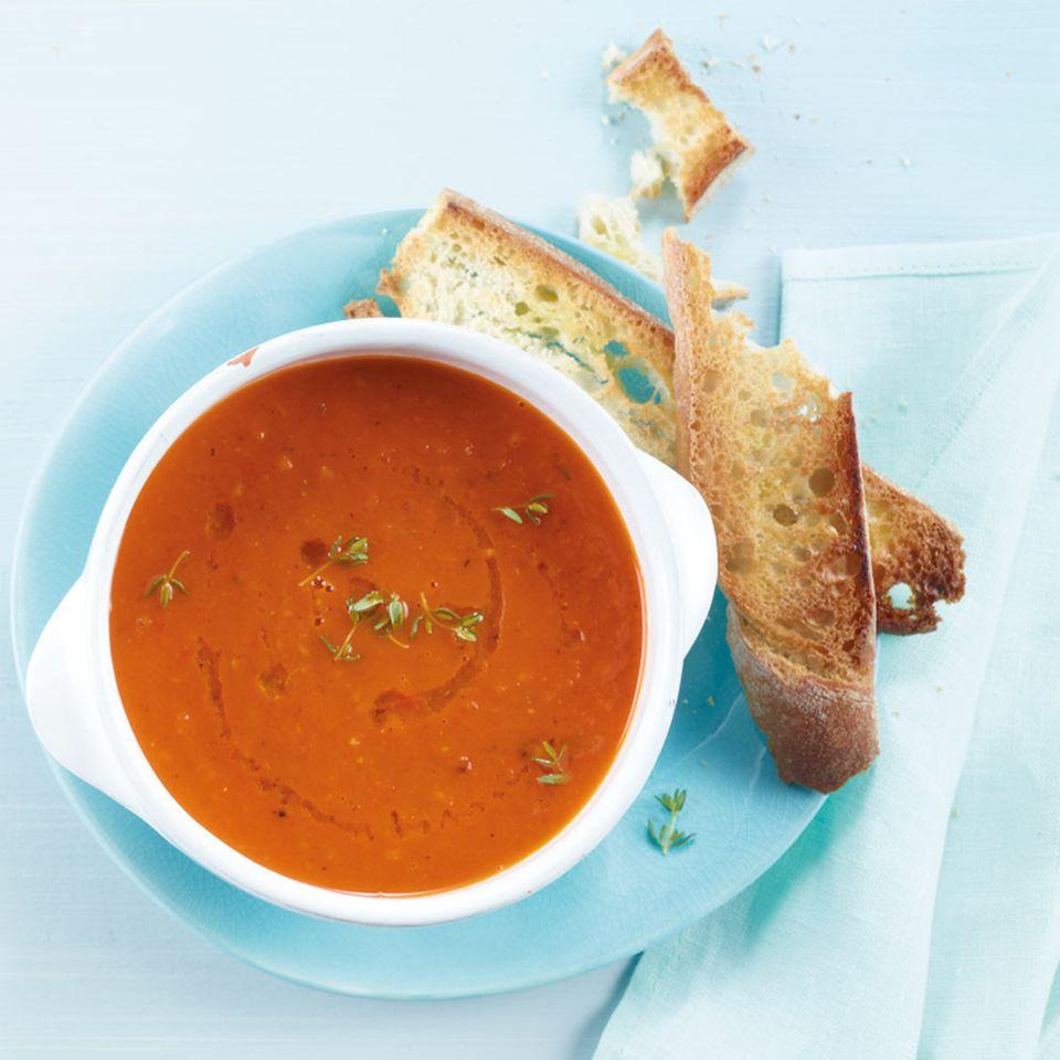 Ofentomaten-Suppe