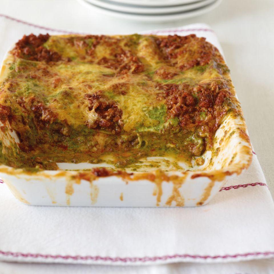 Spinat-Hack-Lasagne