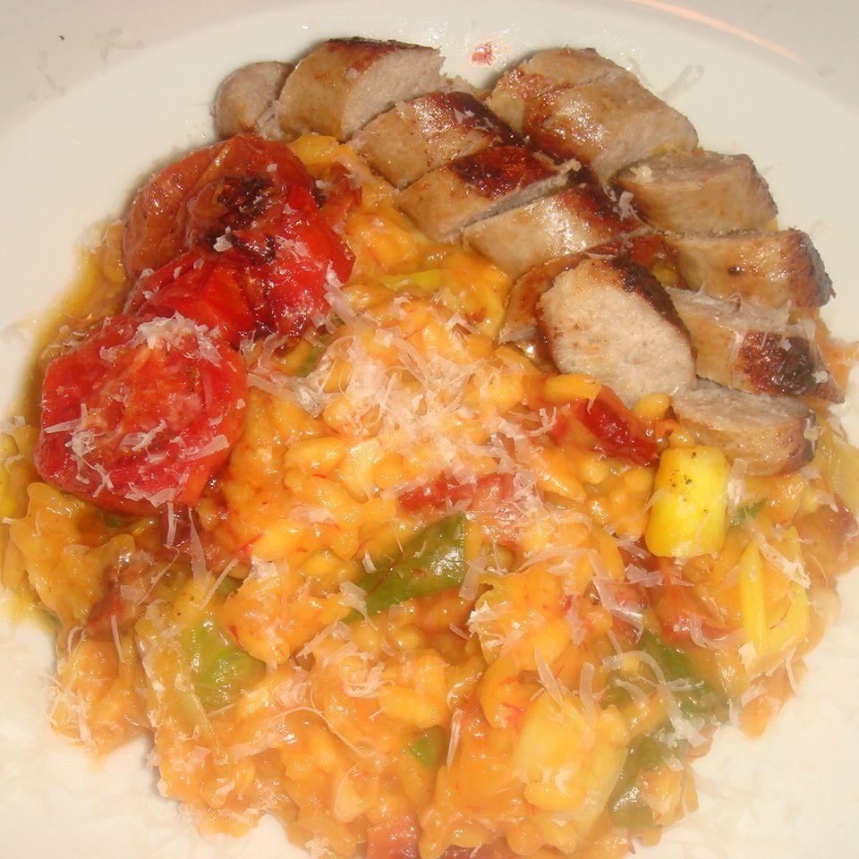Safran-Risotto mit Salsiccia