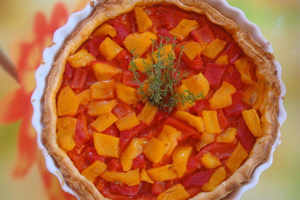 Pikante Paprika-Tarte