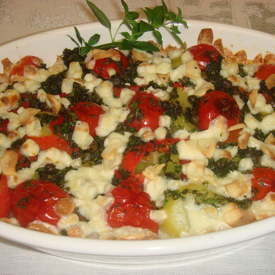 Mediterraner Gemüseauflauf mit Mozzarella
