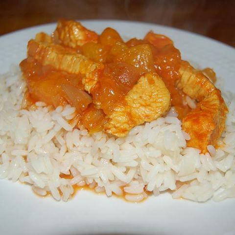 Putencurry mit Mandarinen