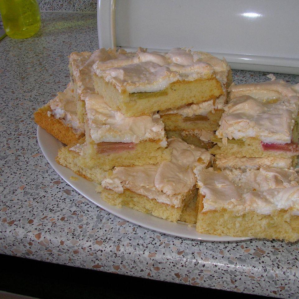 Rhabarberkuchen aus der Springform