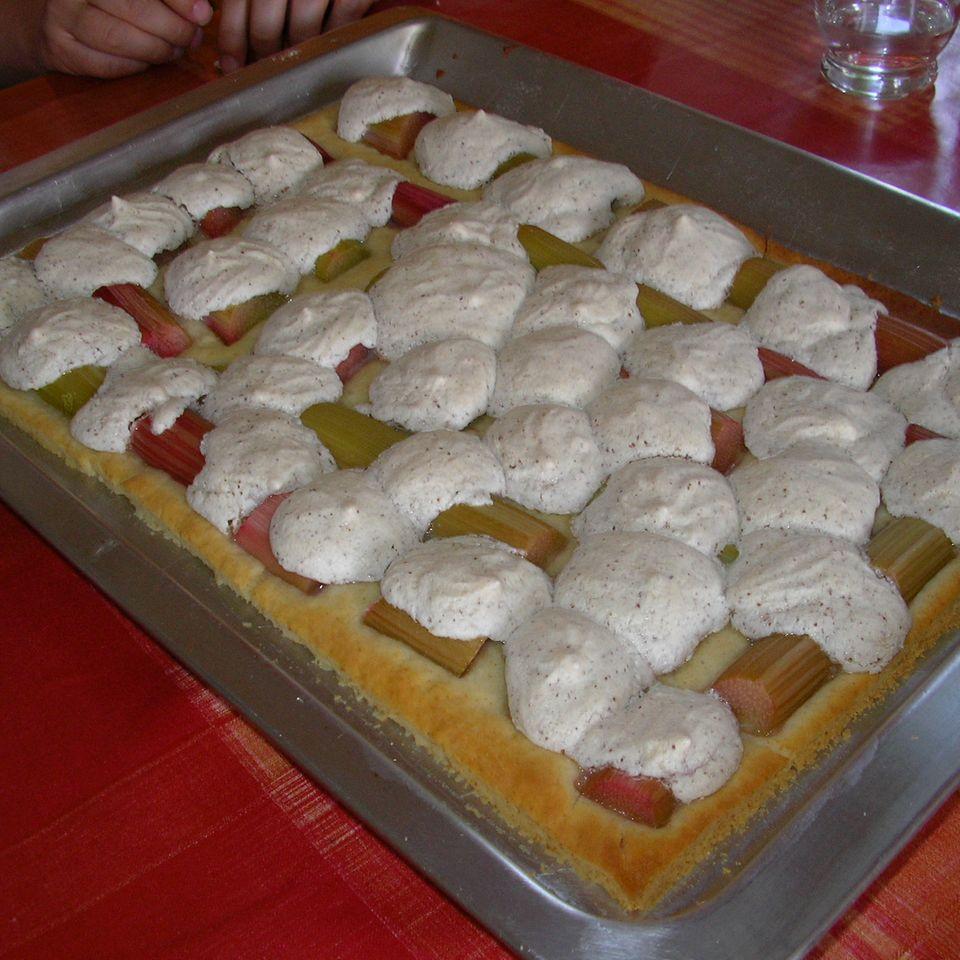 Rhabarberkuchen mit Quark-Ölteig