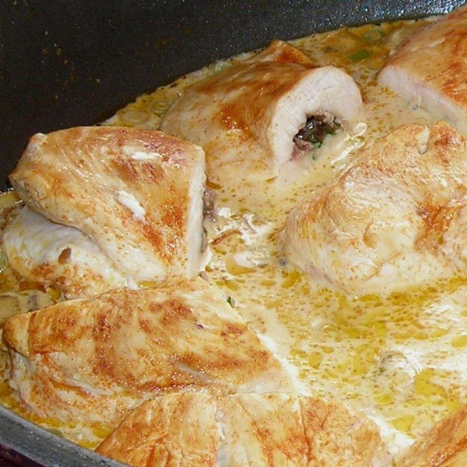 Gefüllte Hähnchenbrust mit Serranoschinken