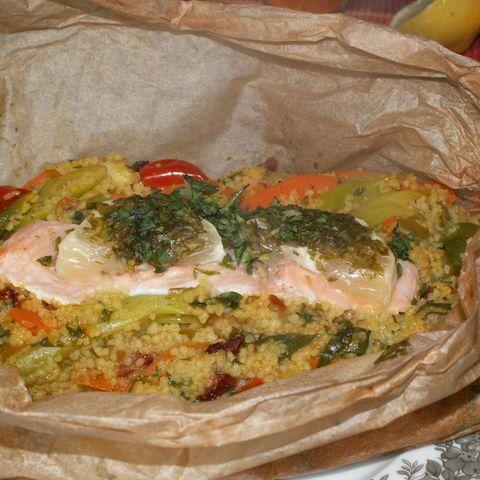 Lachs-Couscous-Päckchen