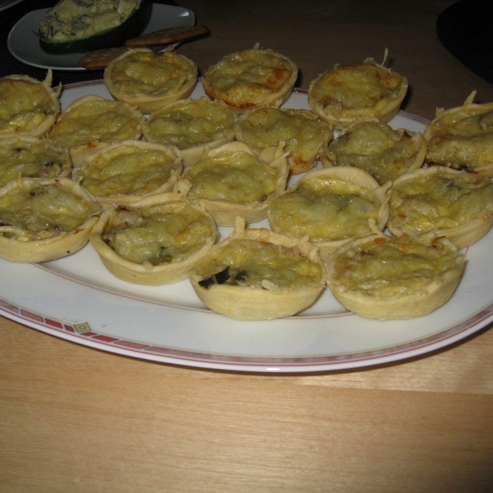Mini-Quiches mit Lauchzwiebeln