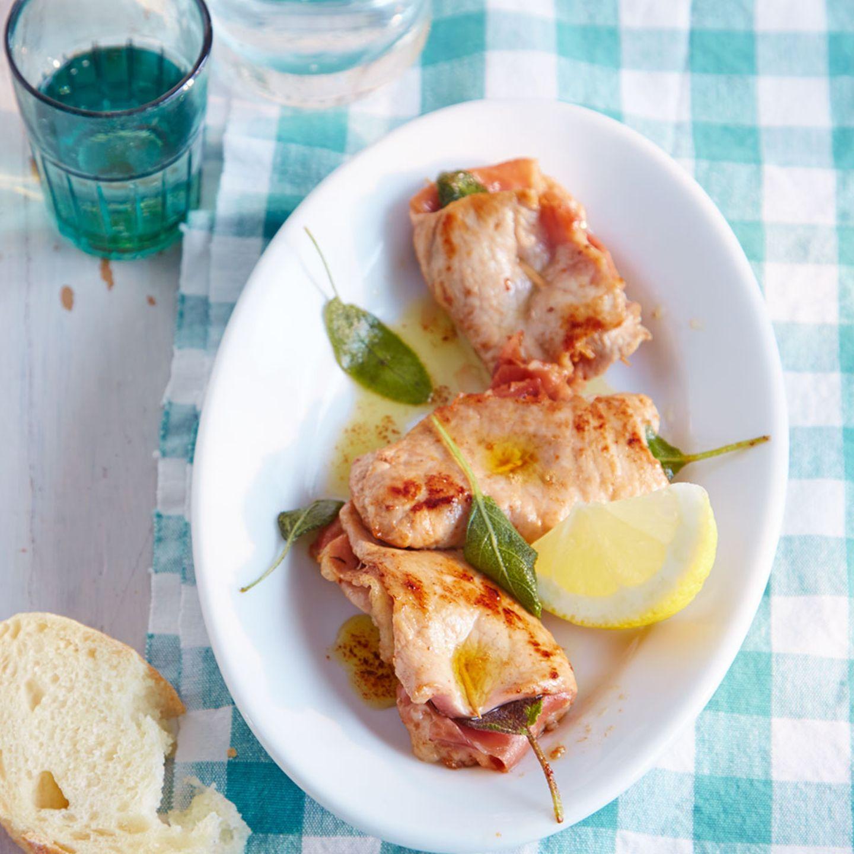 Italienische Küche: Saltimbocca