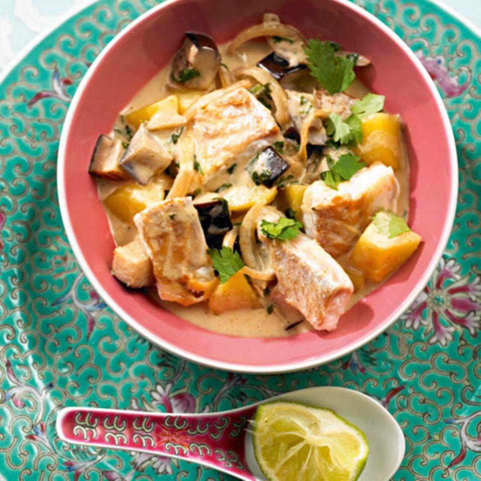 Rezepte: Fisch und Meeresfrüchte mit Kokosmilch