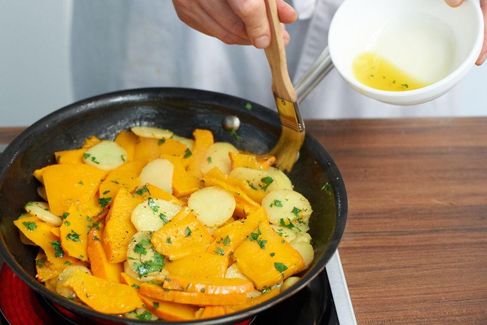 Kürbis-Kartoffel-Tortilla