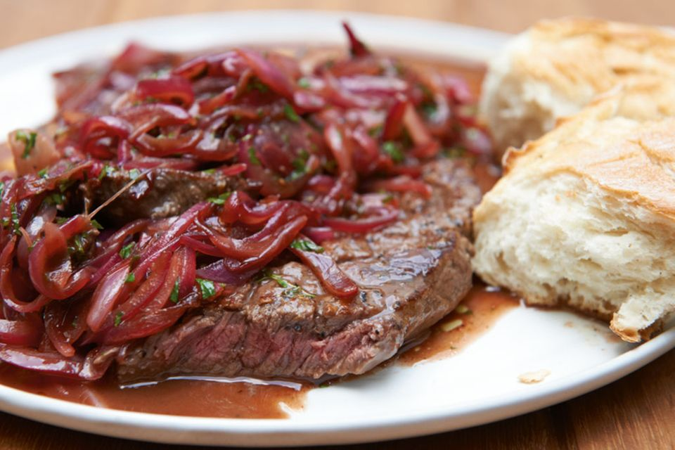 Steak mit Portweinsauce