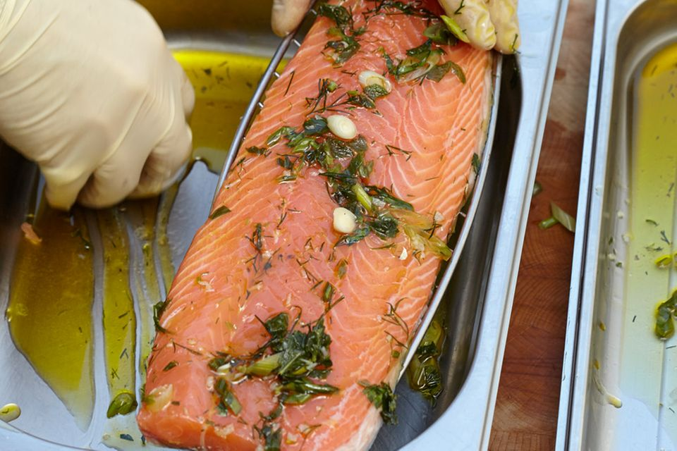 Lachs und Makrele mit Kräutermarinade