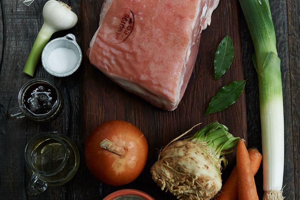 Schweinekrustenbraten mit Biersauce (Grundrezept)