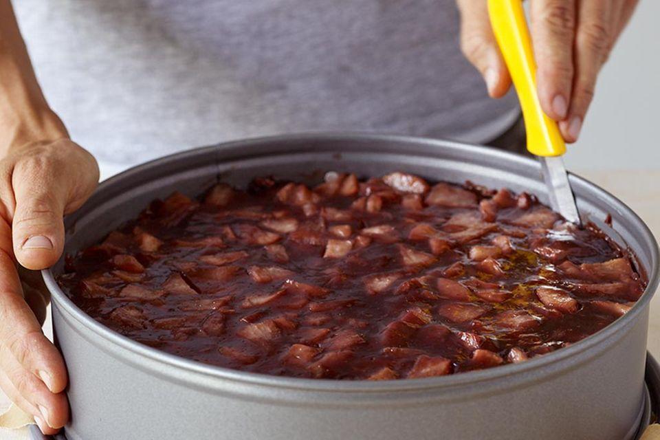 Rotwein-Birnen-Torte