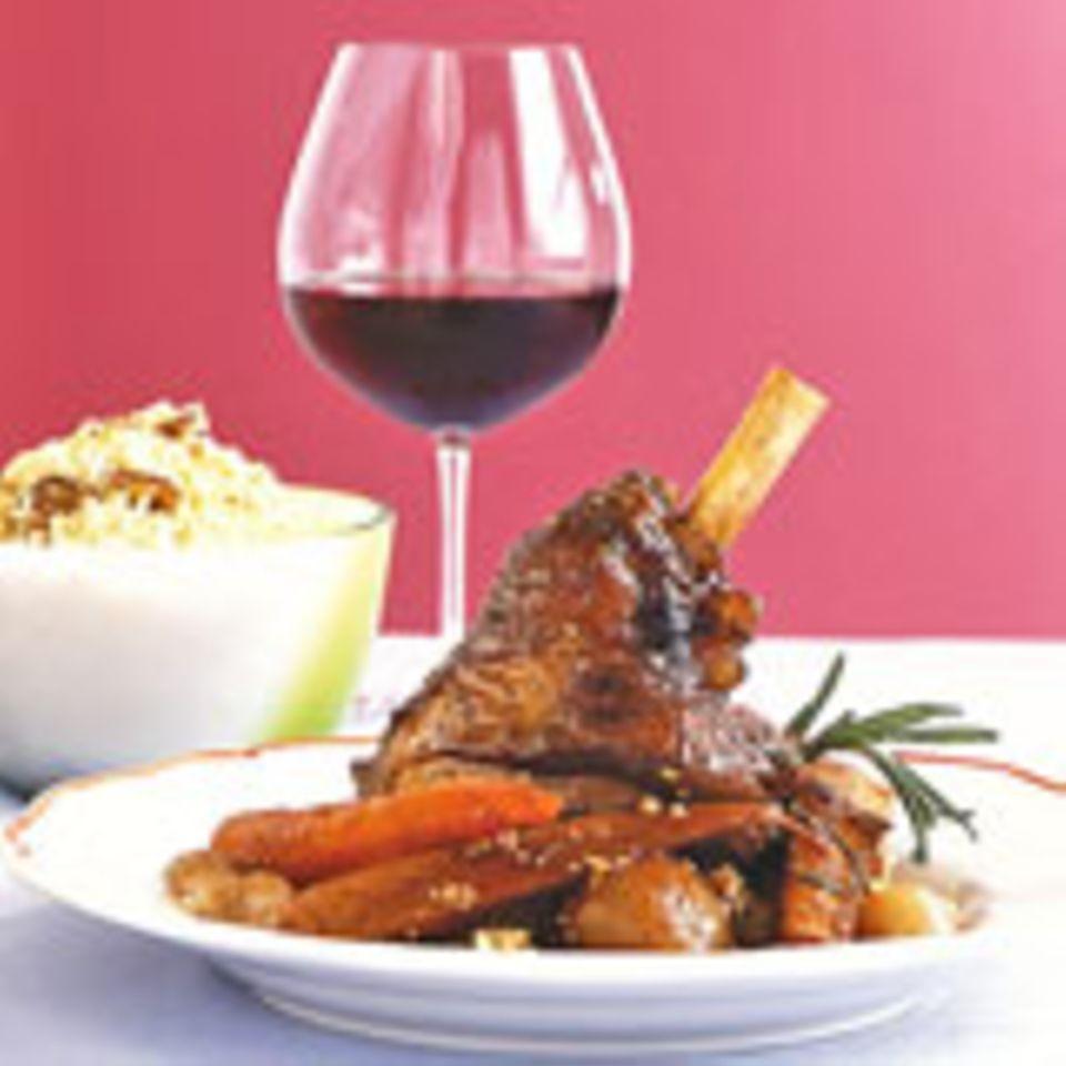 Lamm mit Rotwein