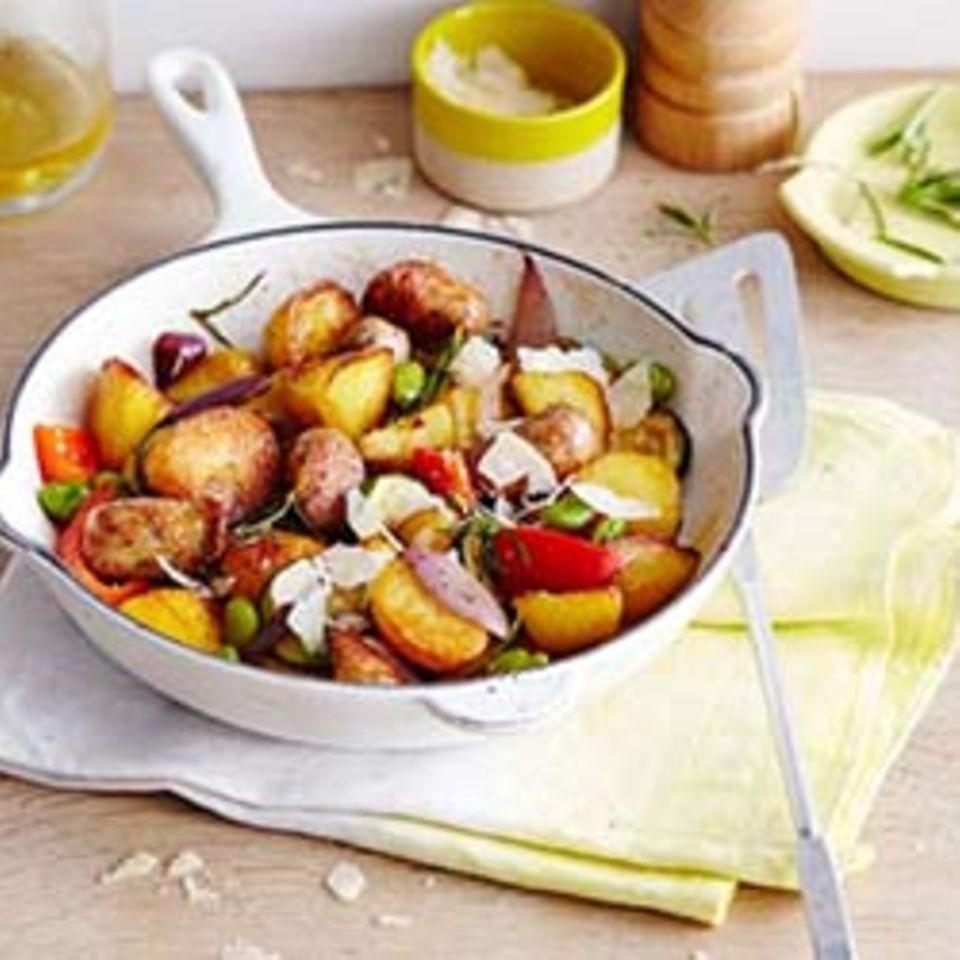 Bratkartoffelpfanne mit Gemüse
